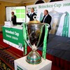 ERC chairman Jean-Pierre Lux, Chief Executive Derek McGrath and former Wales and Lions winger Ieuan Evans were on hand to conduct the Heineken Cup draw's proceedings