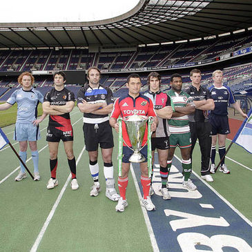 The quarter-final team representatives at Murrayfield