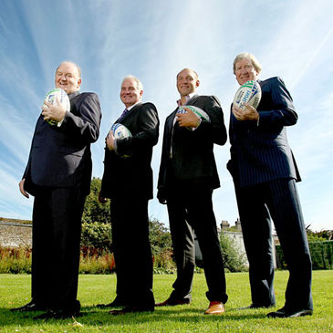 George Hook, Brent Pope, Ben Kay and Tom McGurk at today's launch