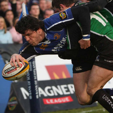 Shane Horgan in Magners League action for Leinster against Connacht