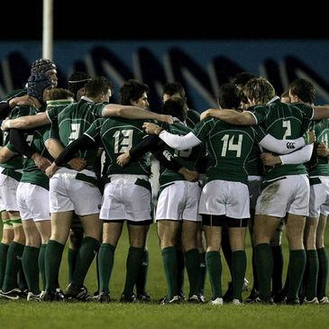 The Ireland Under-20s huddle together