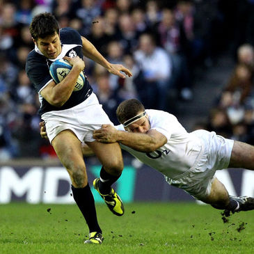 Scotland's Hugo Southwell in action against England