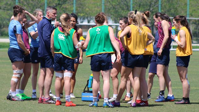 The Ireland Women's squad with head coach Anthony Eddy