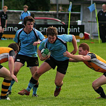Action from Galwegians' title-clinching match against Buccaneers