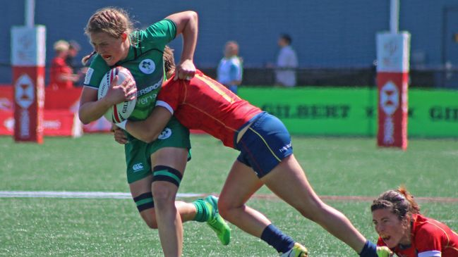 Ashleigh Baxter in action for the Ireland Sevens team