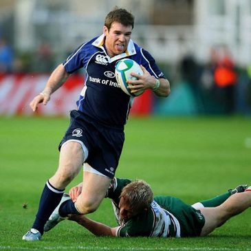 Gordon D'Arcy in action for Leinster against Leicester Tigers