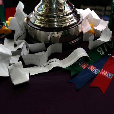 The AIB Cup trophy at the first round draw