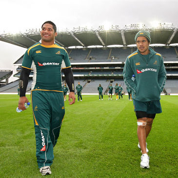 Wycliff Palu and Digby Ioane at Croke Park