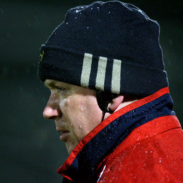 Munster coach Declan Kidney is pictured during his side's win over Connacht