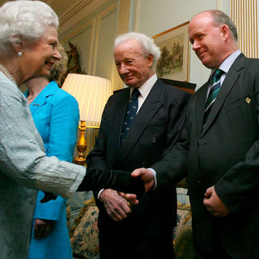 Declan Kidney and Jack Kyle are introduced to Queen Elizabeth
