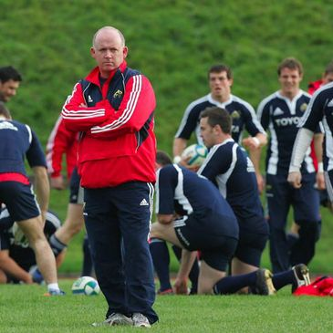 Munster coach Declan Kidney at training