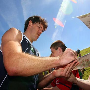 Shane Horgan signing autographs during the Open Day