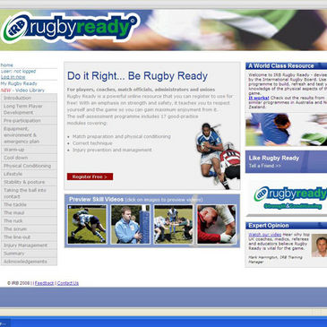 The IRB Rugby Ready website