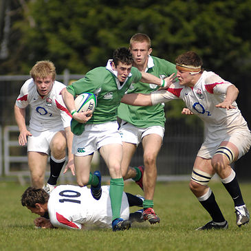 Action from Saturday's Ireland-England clash