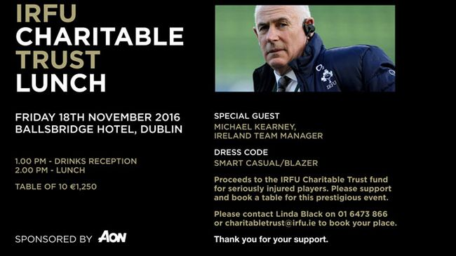 IRFU Charitable Trust Aon Lunch