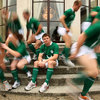 Ireland's Grand Slam-winning captain Brian O'Driscoll is caught in focus as the photographers try out some different shots