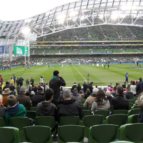 IRFU Volkswagen Tag Draw Winners at Ireland v New Zealand (Aviva Stadium, 23rd Nov 2013)