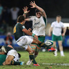 Constant pressure from Ireland in and around rucks led to a number of charge downs, with Iain Henderson shown trying to block Abrie Griesel's kick