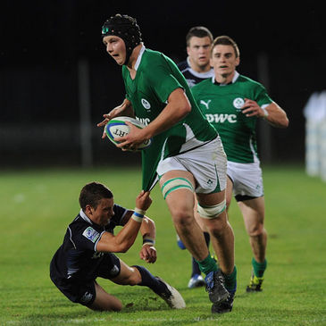 Iain Henderson in possession for the Ireland Under-20s