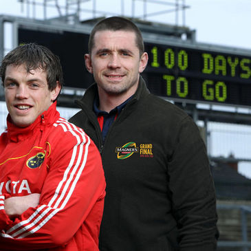 Munster's Ian Dowling and Alan Quinlan