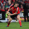 Munster winger Ian Dowling looks to spread the play for the Magners League table-toppers