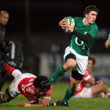 Ian Keatley on the attack for Ireland 'A'