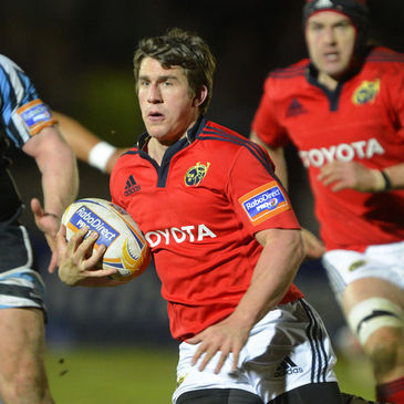 Munster's Ian Keatley will start against his home province