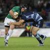 Connacht's number 10 Ian Keatley adds momentum to an attack as the westerners chase an elusive try
