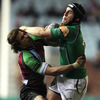 Argentinian international Gonzalo Camacho grapples with Ian Keatley during a Connacht attack