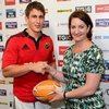 In the aftermath of the 13-point success, Munster's Ian Keatley was presented with the man-of-the-match award by RaboDirect Sponsorship Programme Manager Maeve Moriarty