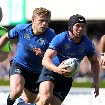 Leinster's Ian Madigan and Isaac Boss