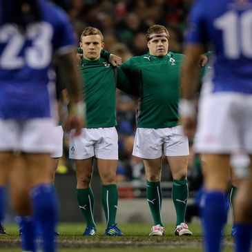 Ireland's Ian Madigan and Sean Cronin