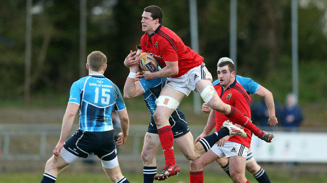 Ian Nagle gathers possession for Munster 'A'