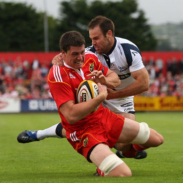 Young lock Ian Nagle in action for Munster