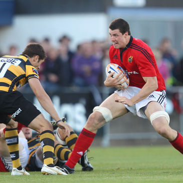 Munster lock Ian Nagle in action against London Wasps
