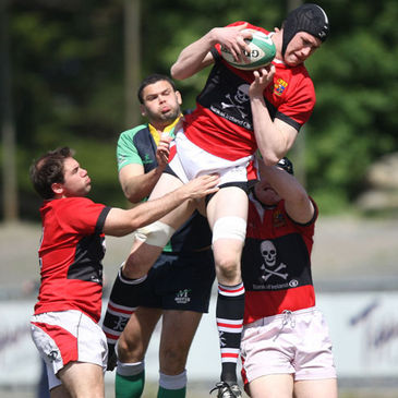 Second row Ian Nagle secures possession for UCC