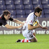 Centre Ian Whitten nips over to score Ulster's opening try at Murrayfield, helping them take a 10-8 lead into half-time