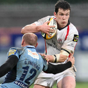Ian Whitten in action for Ulster against the Cardiff Blues