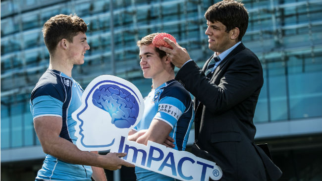 Donncha O'Callaghan launches the ImPact Concussion device