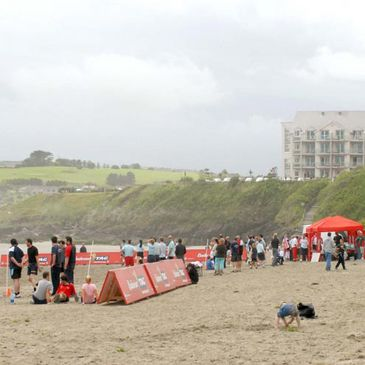 A general view of Budweiser Beach Tag at Inchydoney