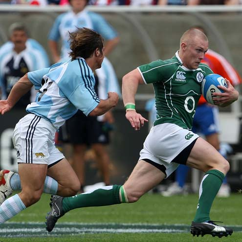 Keith Earls in action for Ireland 'A' at the 2008 Churchill Cup