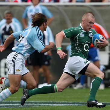 Keith Earls in action for Ireland 'A' against Argentina 'A'