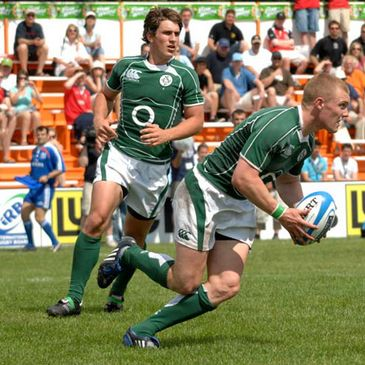 Keith Earls tries to set up a counter attack for Ireland 'A'