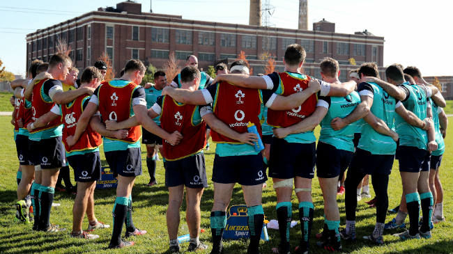Ireland Team To Play New Zealand In Chicago : Irish Rugby