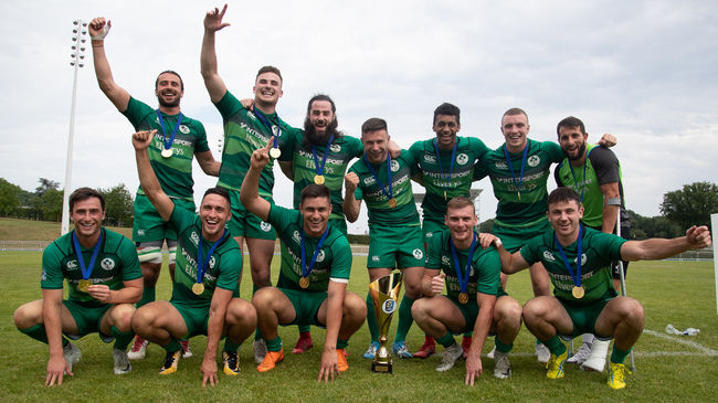 The victorious Ireland Men's Sevens squad