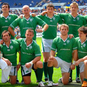Members of the current Ireland Sevens squad