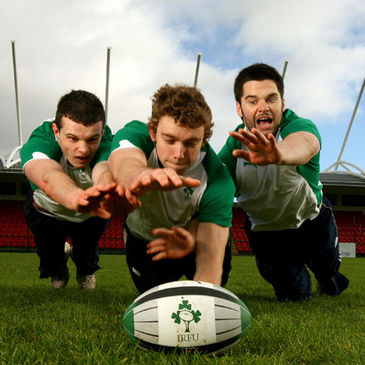Ireland U-19 squad members Simon Hanbidge, Kevin O'Byrne and David O'Mahony