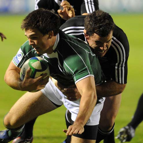 Eoin O'Malley in action against the New Zealand Under-20s