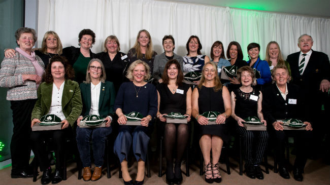 Members of the inaugural Ireland Women's team from 1993