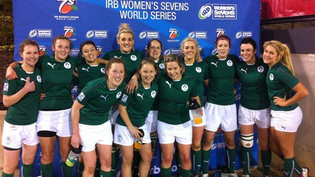 Members of the Ireland Women's Sevens squad